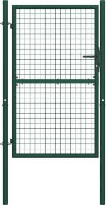 Poarta de gard, verde, 100 x 150 cm, otel