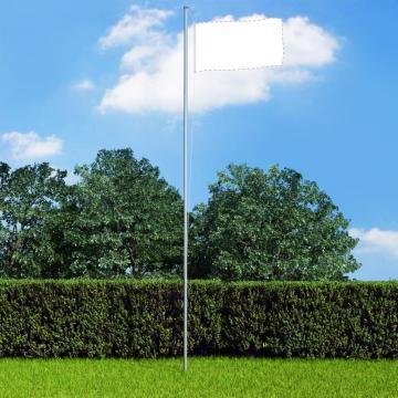 Stalp de steag modular, 6,2 m, aluminiu
