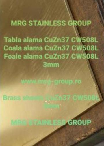 Tabla alama 3x500x2000mm foaie alama, coala alama, cupru de la MRG Stainless Group Srl