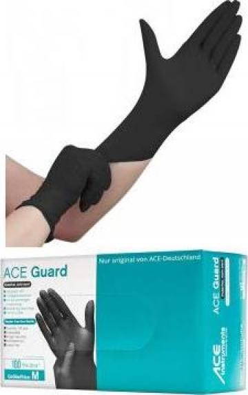 Manusi examinare Ace Guard-nitril negru - EN374/455 de la Hoba Ecologic Air System Srl