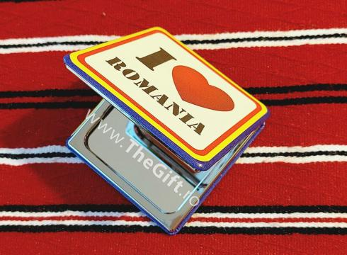 Oglinda suvenir dubla, I love Romania