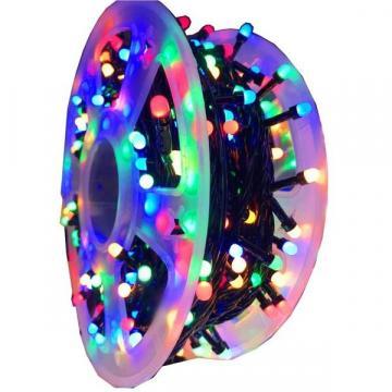 Instalatie de Craciun rola cu 500 leduri mari multicolore