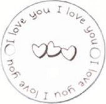 Bratara I love you Hearts, banut Argint 925
