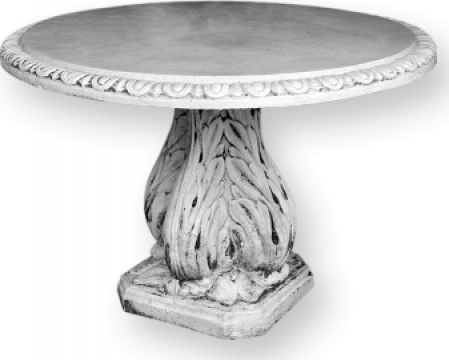 Masa rotunda din marmo-ciment M33 de la Cementarte Srl