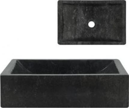 Chiuveta, negru, 45 x 30 x 12 cm, marmura de la Vidaxl