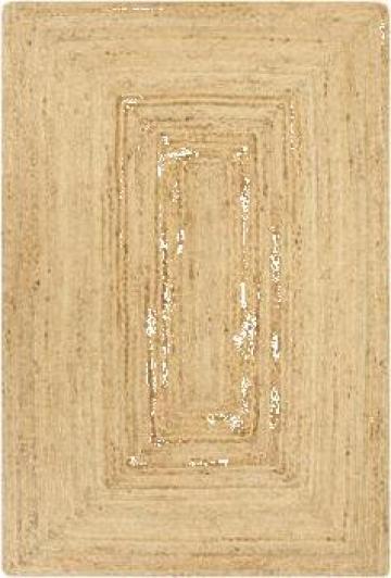 Covor manual, natural, 160 x 230 cm, iuta de la Vidaxl