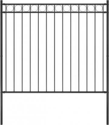 Gard de gradina, negru, 1,7 x 1,5 m, otel de la Vidaxl