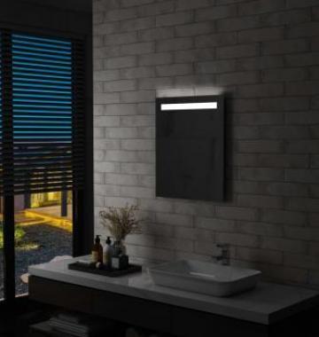 Oglinda cu LED de perete de baie, 50 x 60 cm