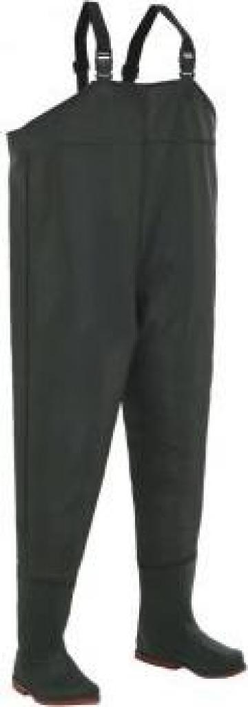Pantaloni de vanatoare cu cizme, verde, marime 45