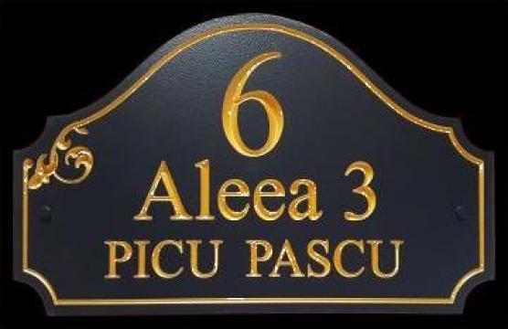 Placi personalizate cu adresa si numarul casei de la Rosca Srl