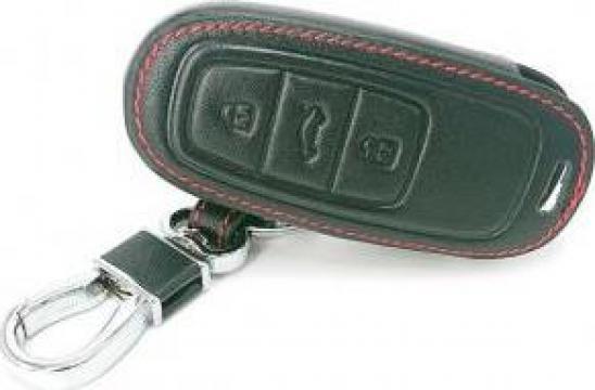 Husa cheie piele pentru Audi A3 A4 B9 A6 C8 A7 S7 4K A8 S8 de la Caraudiomarket.ro - Accesorii Auto Dedicate