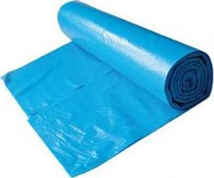 Saci menajeri LDPE 35 litri, 15 buc/rola, albastru de la Cristian Food Industry Srl.