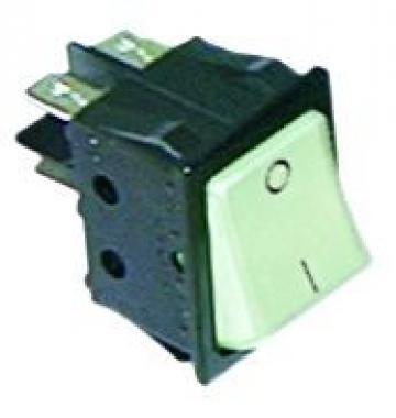 Buton alb basculant 30x22mm, 2NO, 250V