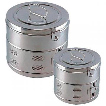 Casoleta sterilizare cu capac, inox, 80 x 80 mm (1 buc)
