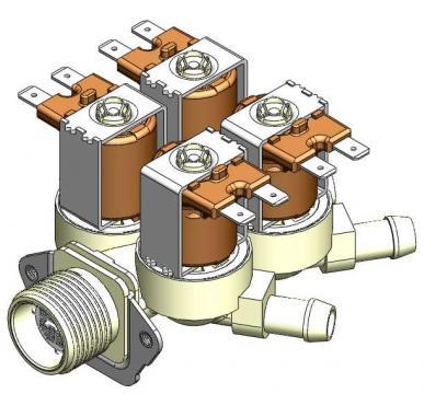 Electrovalva 12V 4 cai D.10 mm 3120310
