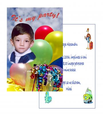Invitatii personalizate INVP001 de la Apia Prest Srl