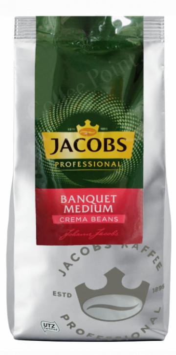 Cafea boabe Jacobs Crema Banquet Medium 1 kg de la Vending Master Srl