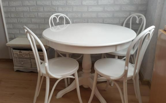Masa cu scaune curbate Ghera 6016