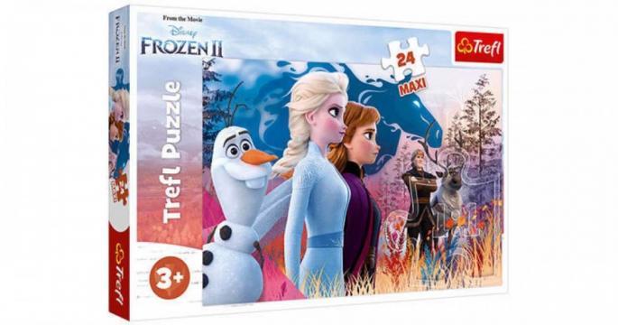 Puzzle Trefl 24 Maxi Frozen 2 - Calatoria magica