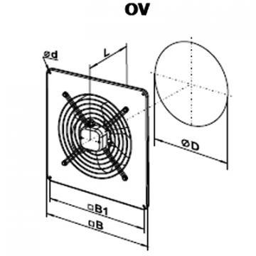 Ventilator axial OV 4D 450 de la Ventdepot Srl