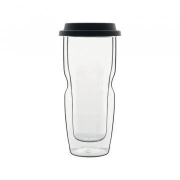 Pahar cu capac pentru cafea Thermic Glass de la GM Proffequip Srl