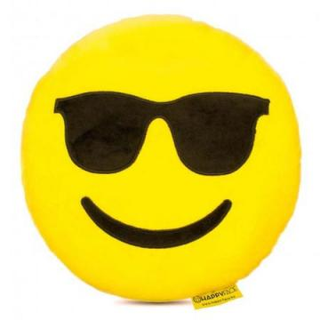 Perna decorativa Emoji cu ochelari de soare Happy Face de la Mobilab Creations Srl
