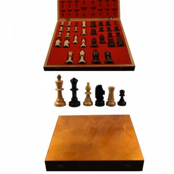 Piese sah lemn Staunton 5 in cutie Lux de la Chess Events Srl
