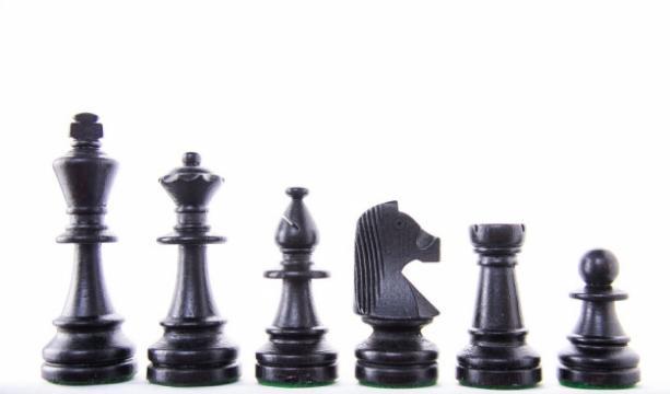 Piese sah lemn Staunton 6 in punga de plastic Black de la Chess Events Srl