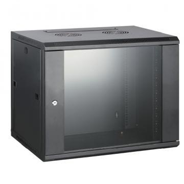 Rack cabinet de perete 18U, D:60x60x905 mm, 60 kg, negru