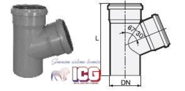 Ramificatie polipropilena pentru canalizare D.110XD.110X67 de la ICG Center