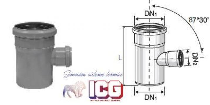 Ramificatie polipropilena pentru canalizare de la ICG Center