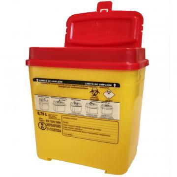 Recipient 0.75 litri, plastic, deseuri intepatoare / taioase