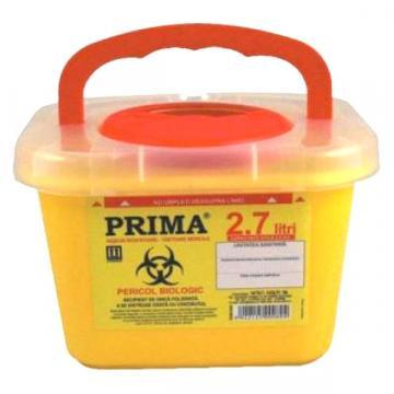 Recipient 2.7 litri, plastic, deseuri intepatoare / taioase