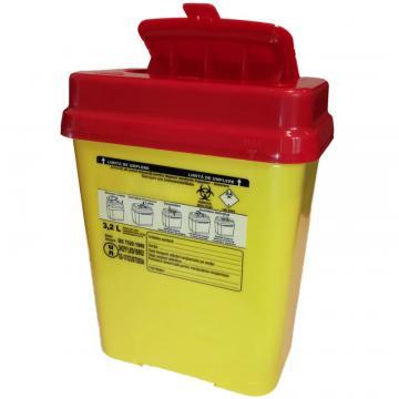 Recipient 3.2 litri, plastic, deseuri intepatoare / taioase de la Sirius Distribution Srl