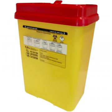 Recipient 7.5 litri, plastic, deseuri intepatoare / taioase de la Sirius Distribution Srl