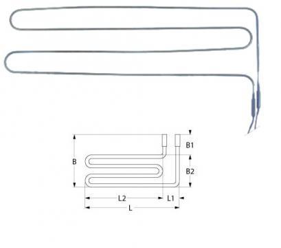 Rezistenta electrica defrost 1100W, 230V, L=277mm