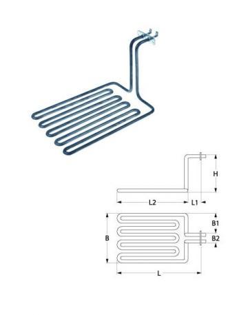 Rezistenta friteuza 3280W, 230V, L=320mm