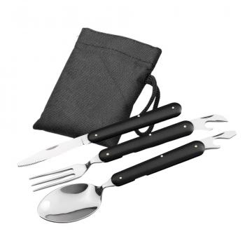 Set 3 tacamuri pliabile, lingura, furculita, cutit, otel de la Dali Mag Online Srl