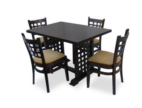 Set mobilier dining masa MD 170 D si 4 scaune de la Mobirom