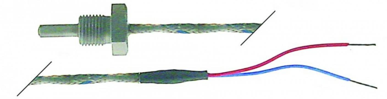 Sonda temperatura termocupla L (Fe-CuNi) cablu Vetrotex
