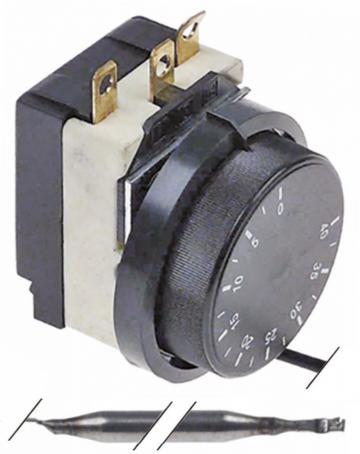 Termostat reglabil 0...+40C, bulb 6mmx110mm