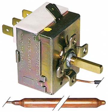 Termostat reglabil 0-90*C, 1CO, 16A, bulb 6,5mm x 95mm