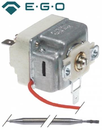 Termostat reglabil 19-90C, 1CO, 16A, bulb 6mmx129mm