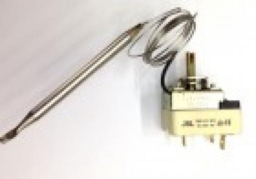 Termostat reglabil 30-90*C, 1NO+1NC, bulb 6mm x 87mm