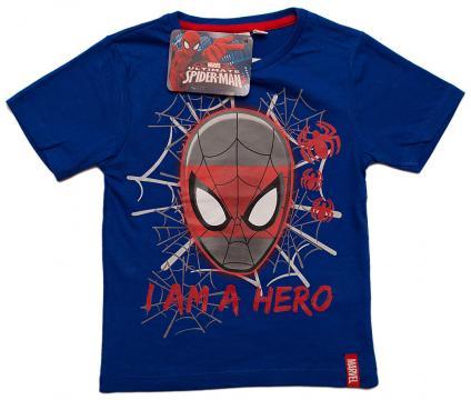Tricou baieti, Spiderman, bumbac, albastru de la A&P Collections Online Srl-d