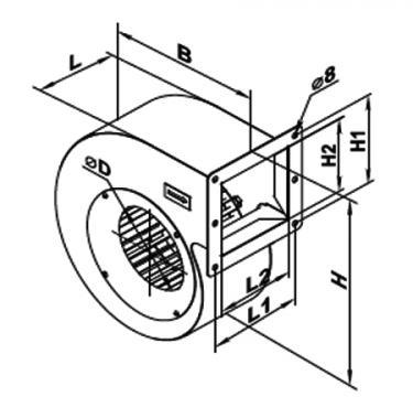 Ventilator centrifugal VCU 4E 250x140 de la Ventdepot Srl