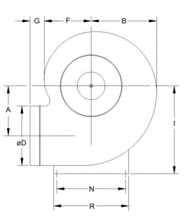 Ventilator centrifugal mediu coroziv MBP 31 T4 1/3
