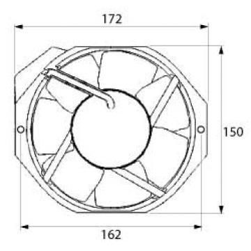 Ventilator axial 230VAC