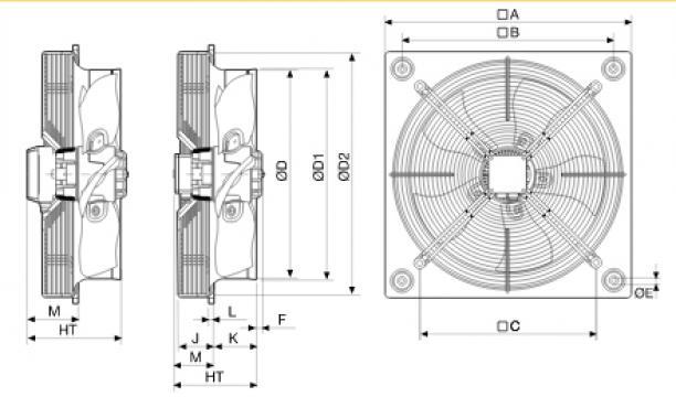Ventilator axial HXTR/4-250