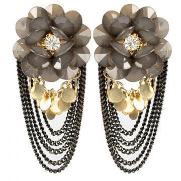 Cercei vintage cu cristale Bouquet - Parure Milano de la Luxury Concepts Srl